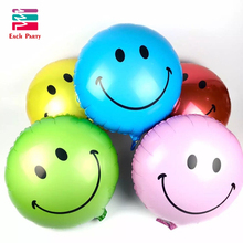 Smile face balls Helium foil Balloons kids Happy Birthday globos wedding Decoration Air ballons inflatable toys for children(China)