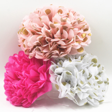 8inch Mix Color 3pcs Paper Flowers Ball Wedding Home Birthday Party Car Decoration Tissue Paper Pom Poms Polka dots Pom poms(China)