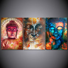 HD Printed Buddha image Portrait Art Painting Canvas wall art Print room decor print poster picture canvas Free shipping /PT0760