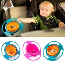 Hot Sale Creative Baby Kids Non Spill Feeding Toddler Gyro Bowl Rotating Avoid Food Spilling(China)