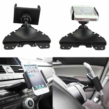 New 2016 Hot Best Quality  Universal Car CD Player Slot Mount Cradle Holder For iPhone Mobile Phone GPS Car Necessity  7CJM