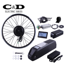 Ebike Kit Electric Bike Conversion Kit 48V500W BPM Geared  Motor MXUS  48V13AH Lithium Super Bottle battery LCD Display Optional