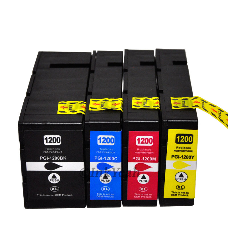 2017 New [Hisaint] 4 pack PGI-1200 XL Ink Cartridges For Canon MAXIFY MB2020 MB2320<br><br>Aliexpress