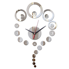 2017 direct selling fashion Acrylic wall Quartz clock modern design Living Room luxury mirror 3d crystal clocks