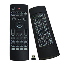 MOUGOL MX3 Wireless Air Mouse LED Backlit Multifunction Remote Controller MINI Keyboard for Smart TV Mini PC, Android TV Box