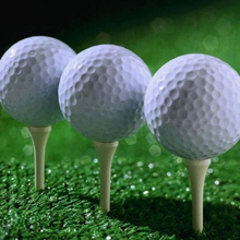 Outdoor Sport Golf Game Training Match Competition Rubber two  Layers High Grade Golf Ball White Free Shipping