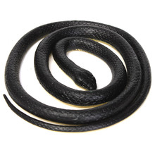 New Halloween 52inchs Realistic Soft Rubber Toy Snake Safari Garden Props Joke Prank Gift Novelty and Gag Playing Jokes Toys