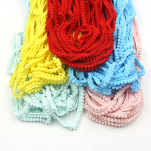 Hot Sale! 18Yards/Lot 12 Colors 5MM Pom Pom Trim Ball Fringe Ribbon DIY Sewing Accessory Lace For Home Garden Party Decoration(China)