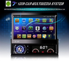 1 DIN Car Video Player Quad Core Android Car DVD Support WIFI GPS Navi Handfree Call Car DVD Del Coche In-dash Android Car PC