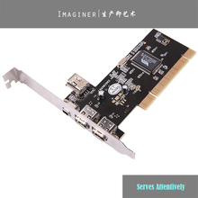 4 Ports Firewire IEEE 1394 4/6 Pin PCI Controller Card DV video capture card Adapter for HDD MP3 PDA(China)