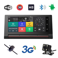 "3G car dvrs 6.86"" Car GPS Navigation Android 5.0 Navigator with rear view camera WiFi 16GB truck gps sat nav free map HD display(China)"