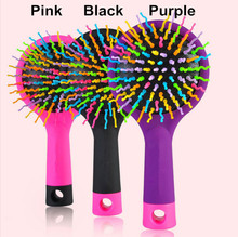 Korean Rainbow Volume Comb Magic Hair Brush Hair Salon Comb Rainbow Hairbrush Fashion Comb Anti-tangle Brush Massage
