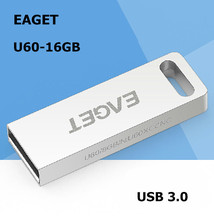 EAGET U60 USB 3.0 100% 16GB usb flash drives Fashion MINI metal waterproof Gift High speed  USB3.0 pen drive Free shipping