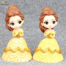 Sample Snow white Alice Mermaid Cinderella Bell Long Hair Princess+Base ornaments decorative Action Figures vinyl doll WJ02(China)