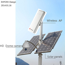 High Quality CCTV Camera solar camera IR Cut Outdoor wireless distance 5km Waterproof IR dome Surveillance Camera