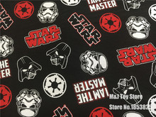 100*168cm Super hero Star Wars knitted Cotton fabric For Sewing diy Patchwork Parent-child Clothing, boy Child clothes Textile(China)
