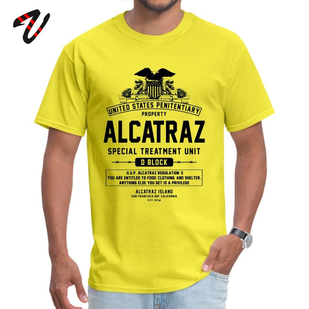 ALCATRAZ S.T.U. Newest Short Sleeve Geek Top T-shirts 100% Cotton O-Neck Men Tops Shirt Birthday T Shirts ostern Day ALCATRAZ S.T.U. 6276 yellow