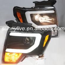 For FORD F150 Raptor 2008 TO 2012 Head Light Black Color SN(China)