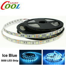 Ice Blue LED Strip 5050 DC12V Flexible LED Light 60LED/m 5m/Lot Neon Tape Strip Waterproof / Non-waterproof