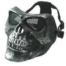 M02  Ghost Mask Scare Skull Mask Real CS Equipment Field Wargame Sliver Grey Ghost Mask Men Full Face Protective Masks