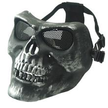 M02 Ghost Mask Scare Skull Mask Real CS Equipment Field Wargame Sliver Grey Ghost Mask Men Full Face Protective Masks(China)