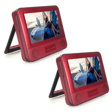 2017 New Red Car DVD Player 7.8 Inch Car Pillow Dual Headrest  Full HD TFT Screen Support Disc USB SD US plug