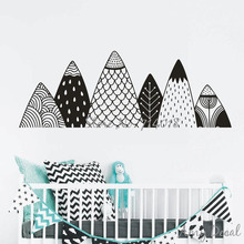 Mountains Wall Decal Nordic Style Mountain Woodland Nursery Tribal Wall Decor Nature Nursery Vinyl Stickers Christmas Decor A730