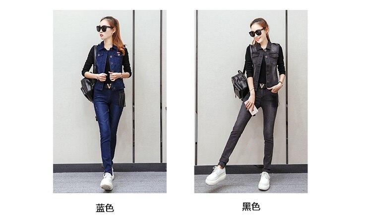 Spring Set 2017 autumn clothing new women suit cowboy two-piece Set fashion autumn temperament Korean tide women OKXGNZ QQ841