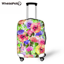 WHOSEPET Flowers Apply To 18-30'' Luggage Suitcase Protective Cover Elastic Thick Luggage Protector Case Cover for Women Travel
