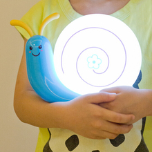 Usb chargable small snail led night light baby bedside cartoon night light blue/yellow/pink/red DY-1085