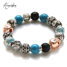 Thomas Style KM Bead Bracelet With OWL, ETHNIC, MAORI , ZIGZAG, SKULL Beads, Rebel Heart Bracelet For Men TS KB538(China)