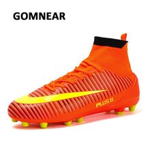 GOMNEAR Men's Soccer Shoes Outdoor Breathable Men Football Shoes Soccer Training Sneakers Anti-skid Athletic Sport Man Sneakers