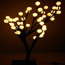LED cherry ball Christmas tree new year Night lights lustres table lamps chandelier wedding Luminaria decoration indoor lighting(China)