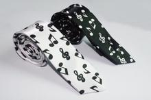 5cm Men's fashion leisure narrow tie White with black piano music tie/black with white notes  piano music ties