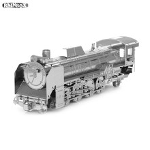 Finger Rock 3D Metal DIY Model Three-dimensional D51 locomotive Puzzles Assemble Building Kits WJ228