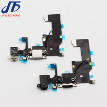 10pcs/lot New Charger Charging port Dock USB connector Data flex cable For iphone 5 5G ribbon replacement Parts(China)