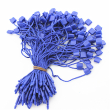 1000pcs garment hang tag string blue 10cm hang tag string cord for price label seal tag