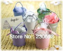 Factory directly sale 50PCS/LOT wedding favor box Colorful beach pail which made of PP plastic used as candy packing