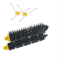 SideBrush+Bristle and Flexible Beater Brush, for iRobot Roomba Vacuum Cleaner Parts 700 Series 770 780 790