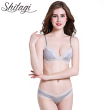 Buy Shitagi Solid Women Sexy Wireless Bra Brief Set Lace Low Sofe Cup Underwear Women Set Cotton Seamless Lace Lingerie Intimate for $11.38 in AliExpress store