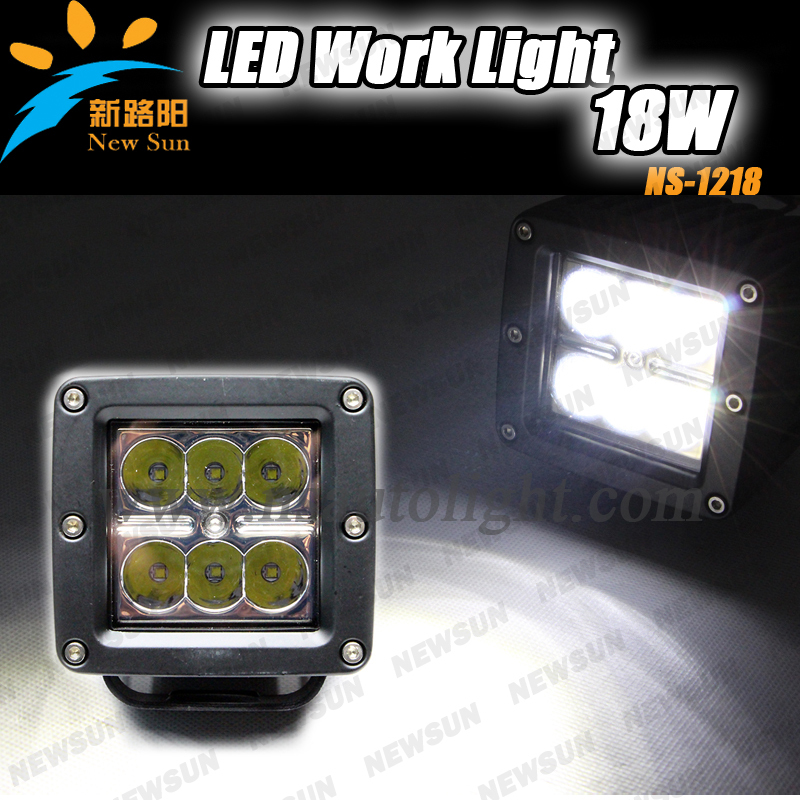 New 18W LED work light off road,ATV,heavy duty vehicles, IP67 led tractor working lights 10v-30v auto Led Construction Worklight<br><br>Aliexpress