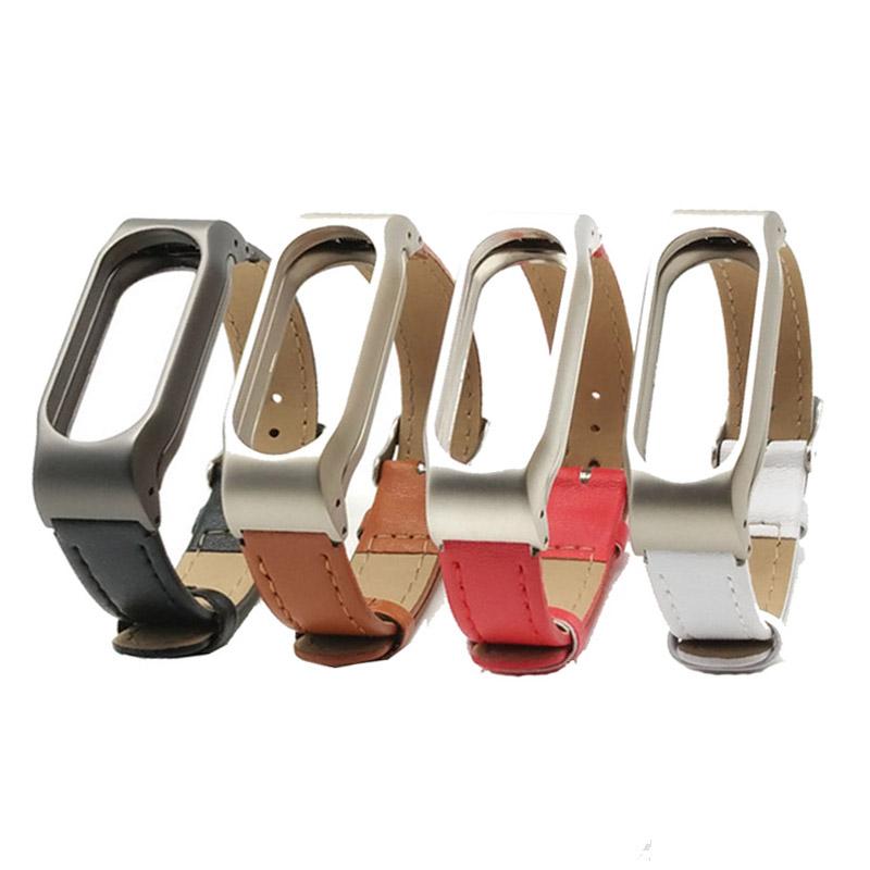 For Xiaomi Mi Band 2 Leather Strap Wrist Band For Mi band 2 Screwless Bracelet for Miband 2 For mi 2 wristband Smart Accessory 2