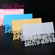 40pcs Pink/Golden/Blue/White Laser Cut Wedding Party Table Name Place Cards Wedding Table Decoration Wedding Favors And Gifts