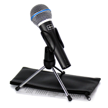 BETA 58A Microfono Professional Vocal Dynamic Wired Microphone With Desktop Mic Stand For Singing Stage Singer KTV Karaoke Mixer(China)