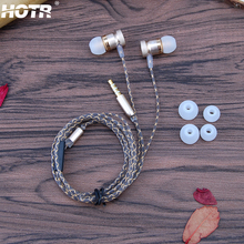Hybrid Metal In-ear Earphone with Mic 3.5mm Jack Stereo Bass Wired Earphone for Iphone 6 6s plus 5s SE 4s for Samsung for Xiaomi
