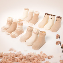Buy 12 pcs = 6 Pairs/lot Baby Socks Newborns Anti Slip Warm Floor Children Socks Winter Kids Foot Warmer Boy Girl Christmas Gift for $11.99 in AliExpress store