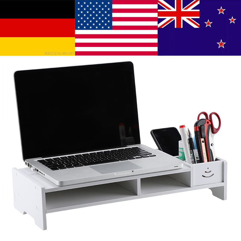 Computer-Monitor-Stand Shelf Desktop-Screen-Riser Desk Pc Multi-Function Storage-Organizer title=