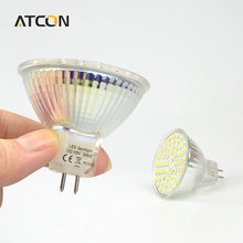 1Pcs Class A++ 110V 220V 12V 24V MR16 GU5.3 7W LED lamp Heat resistant Glass 2835SMD 60 LEDs Spot light bulb For Home lighting