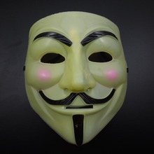 20pcs/lot Halloween Party Masks V for Vendetta Mask Anonymous Guy Fawkes Costume Accessory Party Mask Supplies Wholesale GC-026