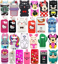Personagem dos desenhos animados 3d hello kitty batman silicone case capa para samsung galaxy j3 2016 j3 j5 j7 on5 a5 e5 2015 grand prime g530